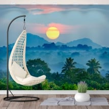 Vinyl wall murals sunset nature sri lanka