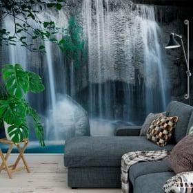 Vinyl wall murals waterfalls erawan thailand