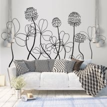 Decorative vinyl and stickers flowers to decorate