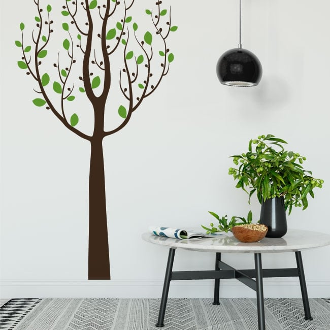 Vinyl stickers tree with leaves