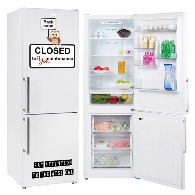 Vinyl refrigerators phrase closed for you maintenance
