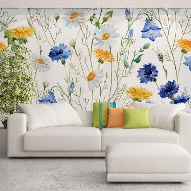Vinyl murals flowers to decorate