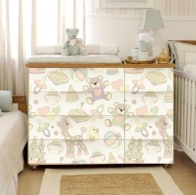 Vinyl chest of drawers for babies