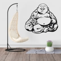 Decorative vinyl and stickers buddha silhouette
