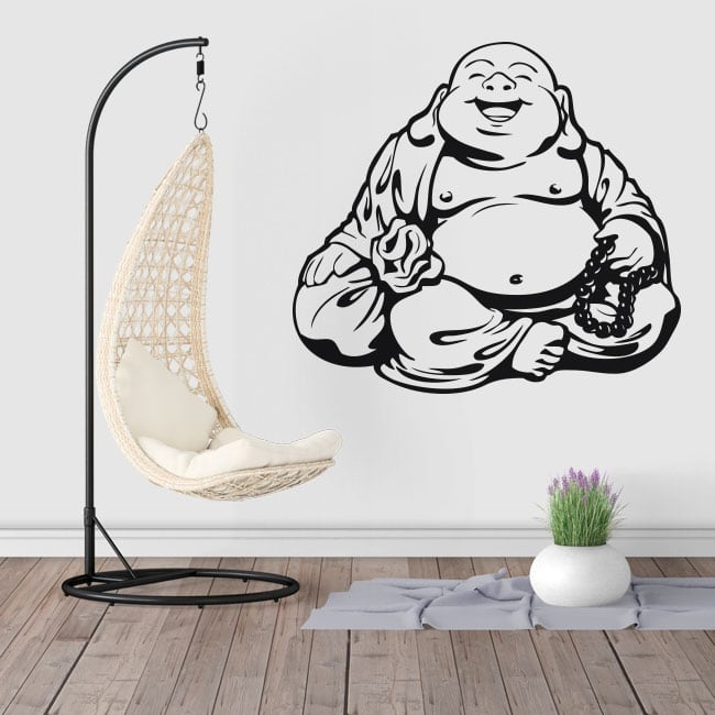 Decorative vinyl and stickers buddha silhouette