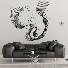 Decorative vinyl Musical waterfall