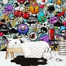 Vinyl wall murals juvenile graffiti
