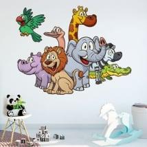 Decorative vinyl and stickers children's animals