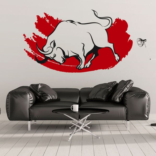 Decorative vinyl and stickers red bull