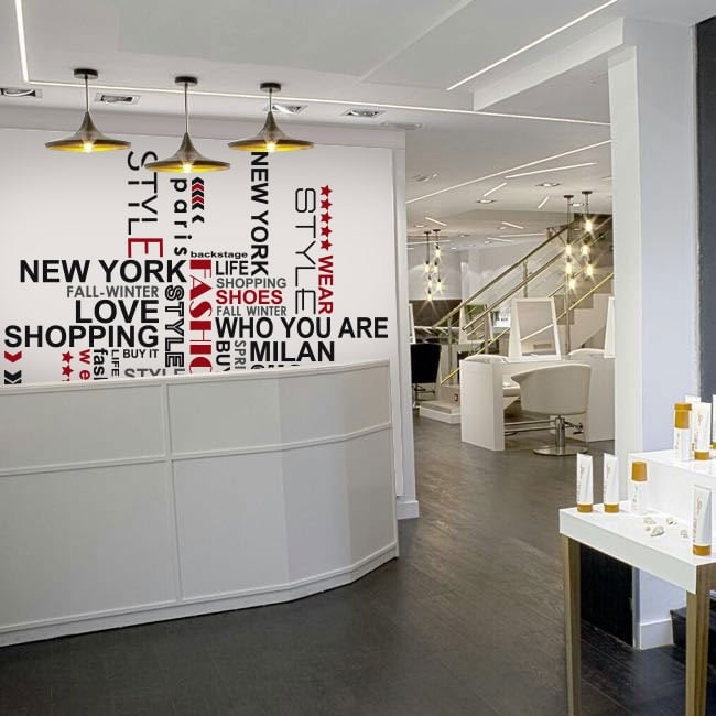 Decorative stickers phrases for shops and stores