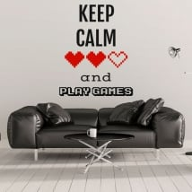 Decorative vinyl phrases keep calm and play games