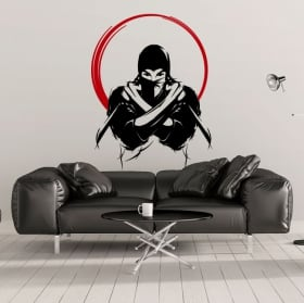 Decorative vinyl and stickers ninja silhouette
