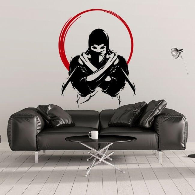 Decorative vinyl and stickers ninja silhouette