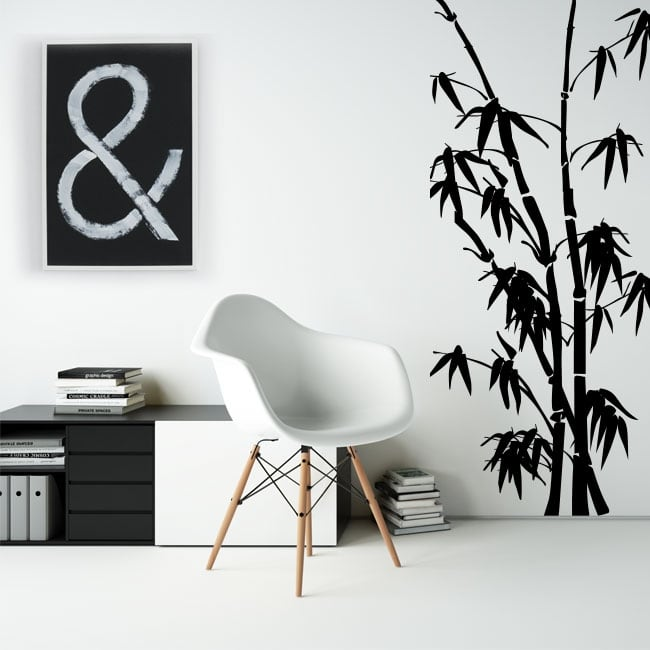 Decorative vinyl and stickers with bamboo