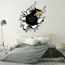 Decorative vinyl and stickers brave bull