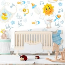 Vinyl wall murals for baby rooms
