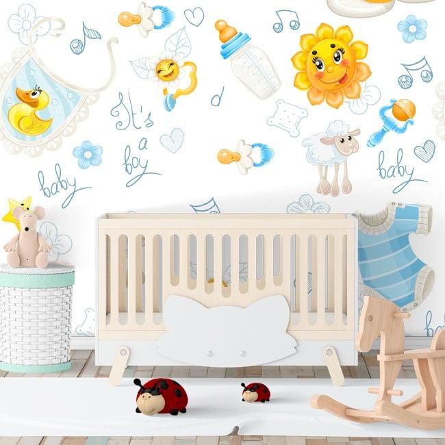 Vinyl wall murals for baby rooms