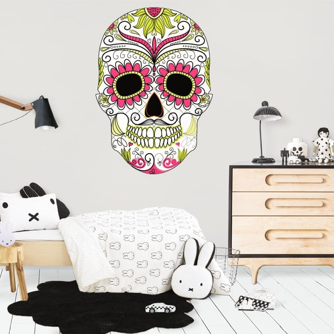 Decorative vinyl skull day of the dead