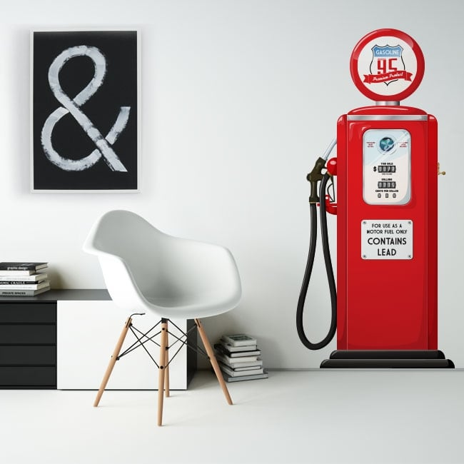Decorative vinyl and stickers retro gasoline pump