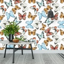 Vinyl wall murals with butterflies