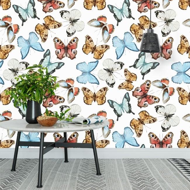 Vinyl wall murals with butterflies