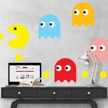 Decorative vinyl and pac-man stickers