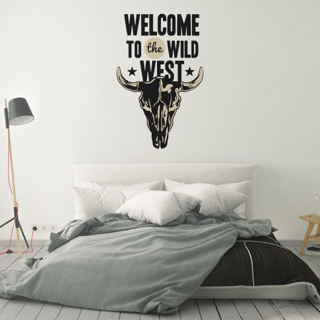 Decorative vinyl and stickers welcome to the wild west