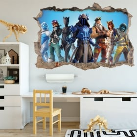 Vinyl and stickers fortnite 3d video games