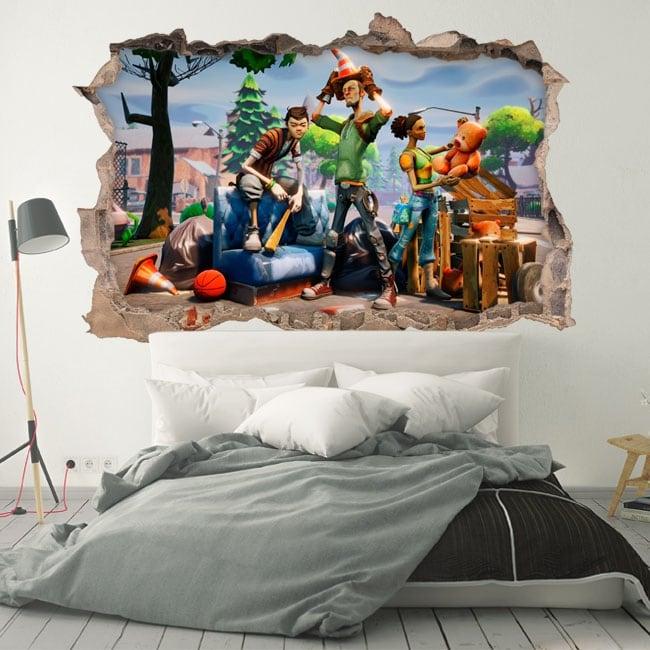 Decorative vinyl and stickers fortnite 3d
