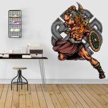Decorative vinyl viking warrior