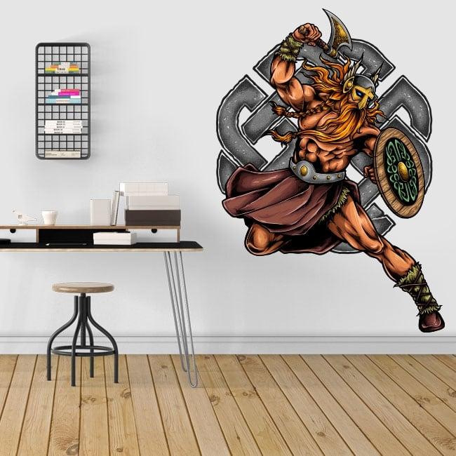 Decorative vinyl viking warrior