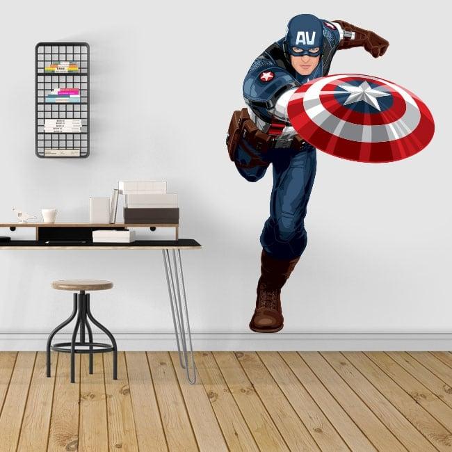 Decorative vinyl and stickers captain america