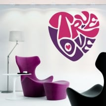 Stickers and decorative vinyls heart true love