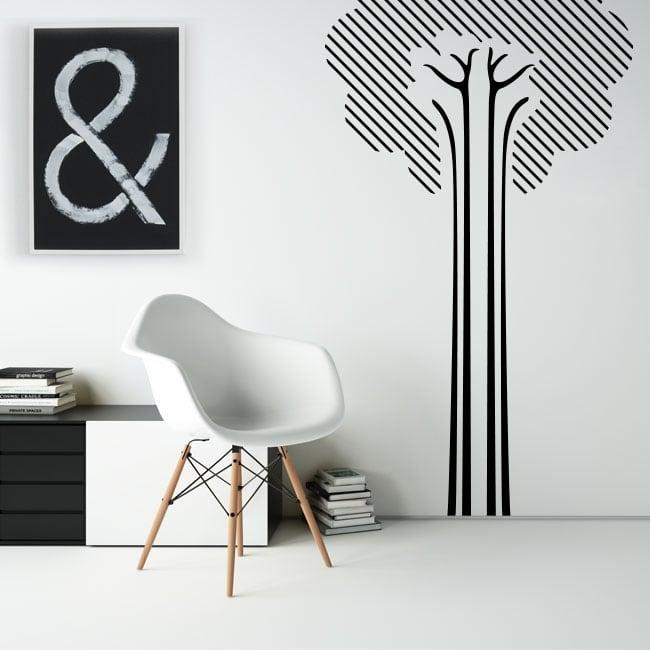 Decorative vinyl and stickers line tree
