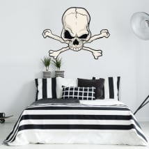 Decorative vinyl skull and bones