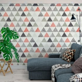 Vinyl wall murals triangles nordic decoration