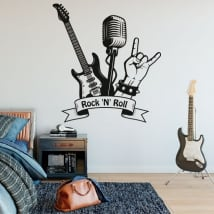 Decorative vinyl and stickers rock and roll