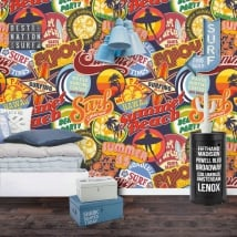 Wall murals and surf vinyl