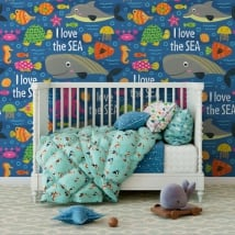 Children's vinyl murals sea world