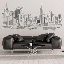 Decorative vinyl and stickers new york skyline