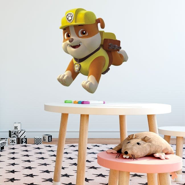 Vinyl and stickers rubble the paw patrol
