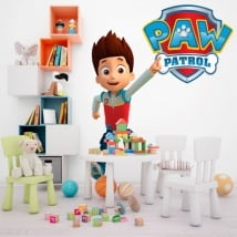 Decorative vinyl and paw patrol logo stickers
