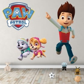 Vinyl and stickers characters of the paw patrol