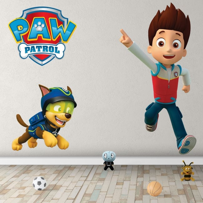 Vinyl and children's stickers chase the paw patrol