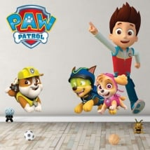 Stickers and children's vinyl rubble the paw patrol