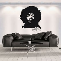 Decorative vinyl and stickers jimi hendrix