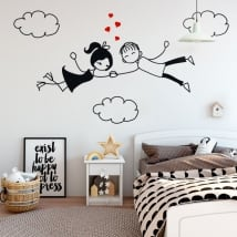 Decorative vinyl and stickers love in the clouds
