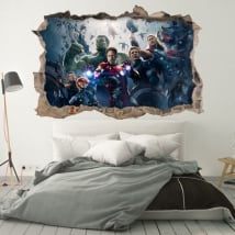 Wall murals the avengers 3d