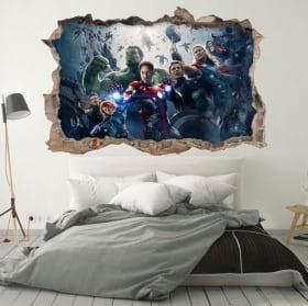 Wall murals the avengers 3d