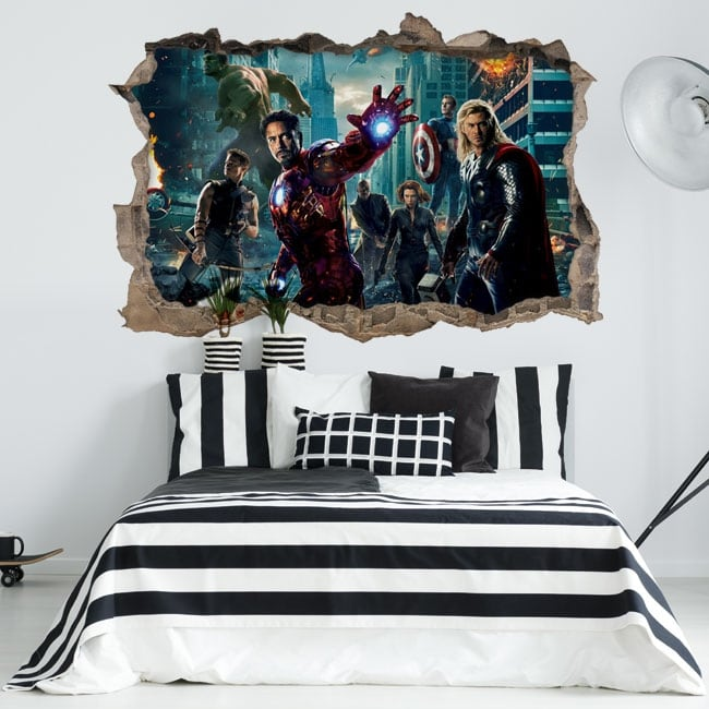 Vinyl and stickers the avengers 3d